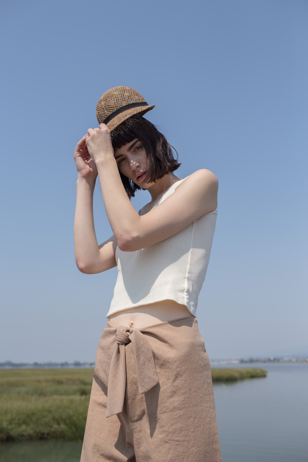 Micaela Greg Knotted Sailor Pant in Camel