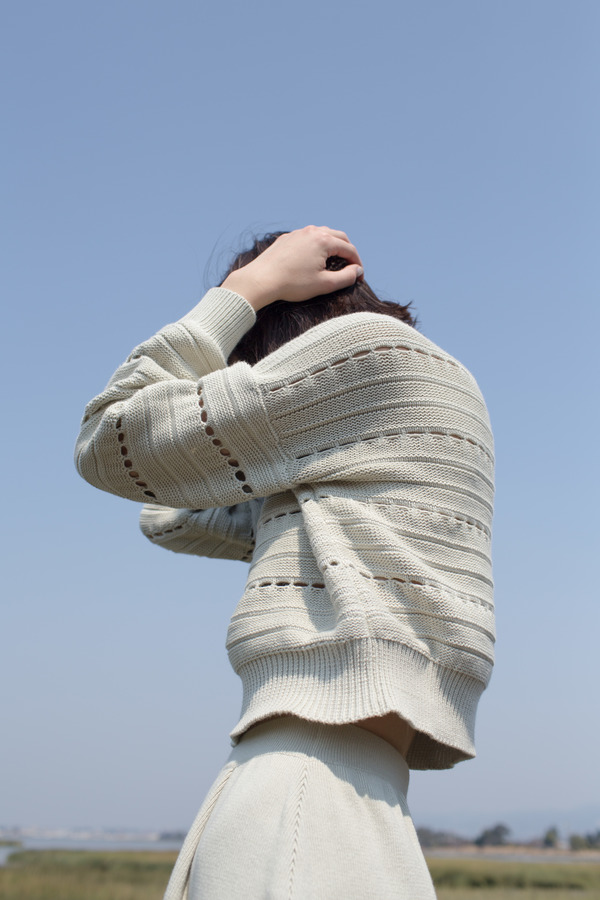 Micaela Greg Lune Sweater in Sea Salt