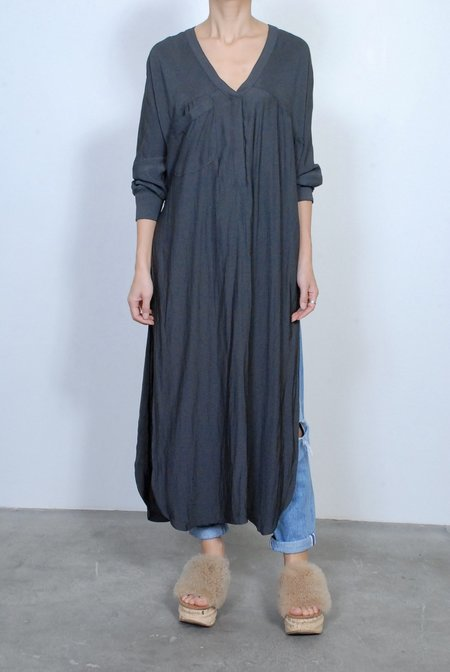 Smythe Side Slit Long Tunic - Carbon