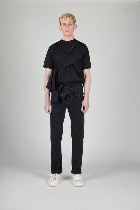 Unisex Y/project Black Adjustable Waist Denim