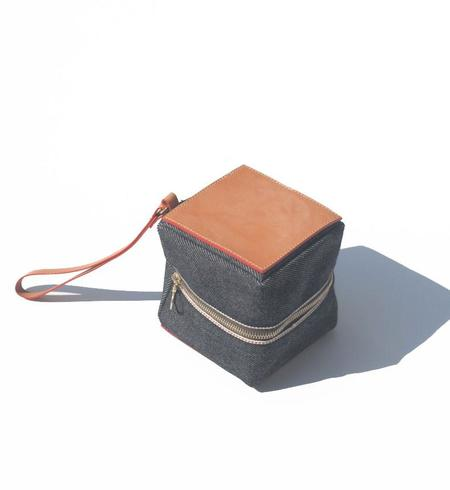 Julia Gabriel Studio Denim Cube Bag