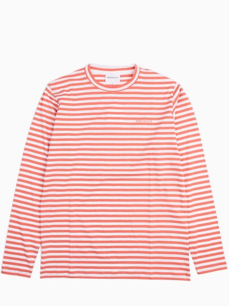 Norse Projects James Logo Stripe - Burned Red