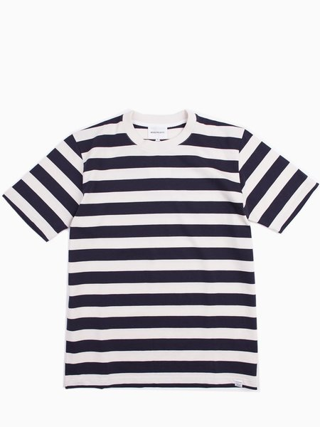 Norse Projects James Rugby - Stripe Navy