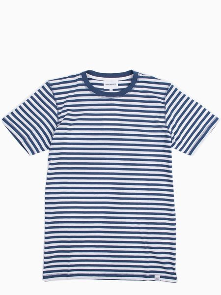 Norse Projects Niels Classic Stripe - Annodized Blue