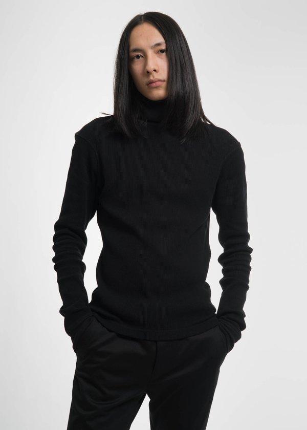 Helmut Lang Black Dart Sleeve Turtleneck