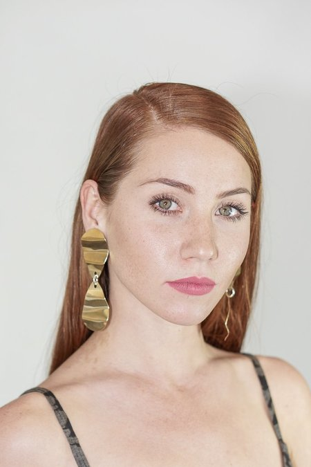 Seaworthy Cintura Earrings in Brass