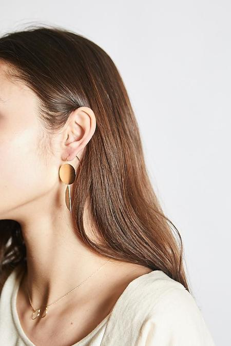 By Boe Dual Moon Earring
