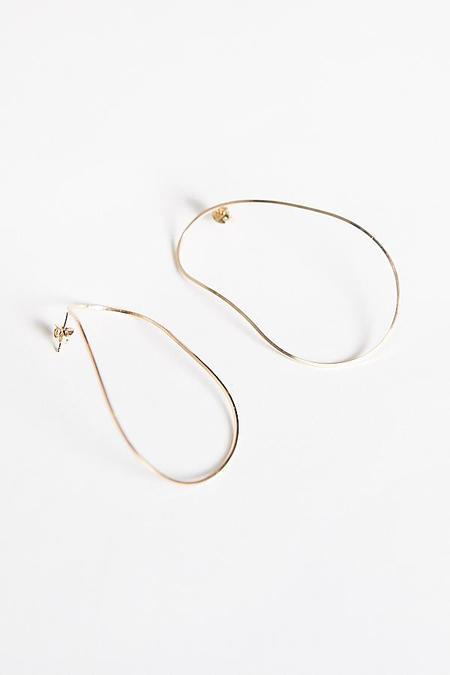 By Boe Gentle Curve Earring  - Gold Fill