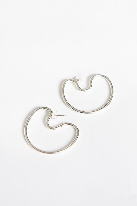 By Boe Indented Hoops - Sterling Silver