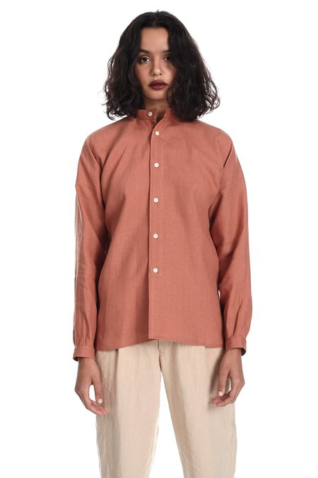 Blluemade Monk Shirt in Terracotta