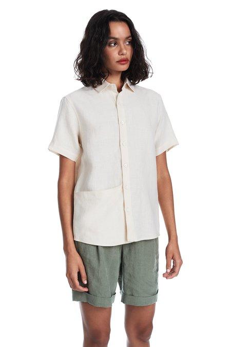 Blluemade Soft Pocket Shirt in Shell