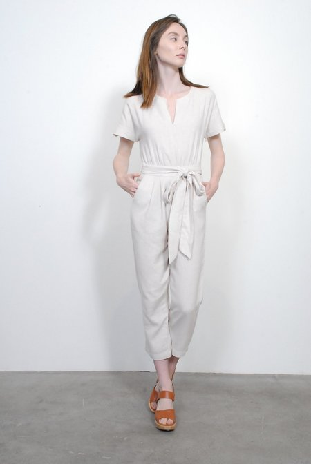 Trovata Birds of Paradis Brooke Jumpsuit - Natural