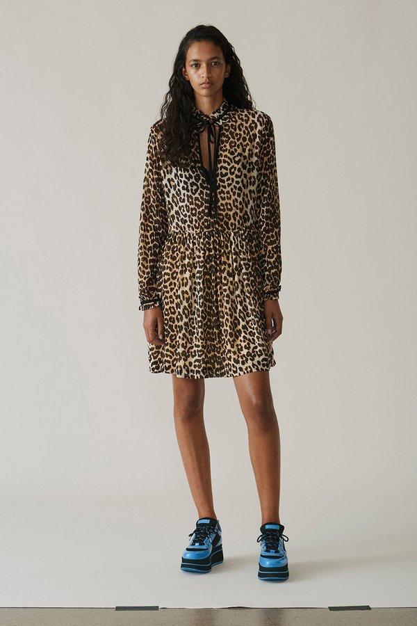 Ganni Fairfax Georgette Mini Dress
