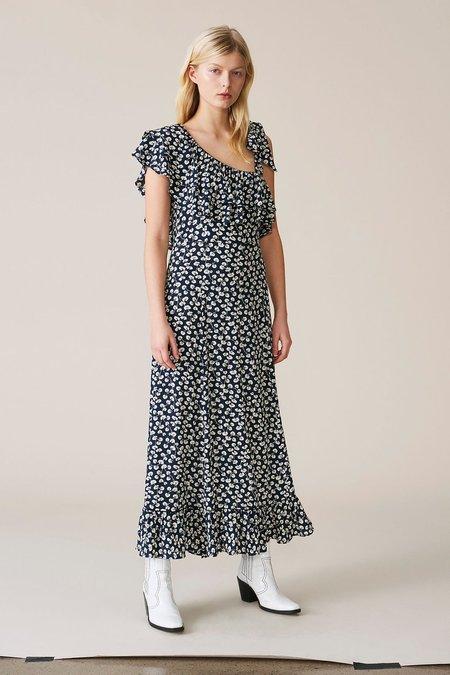 Ganni Roseburg Crepe Maxi Dress