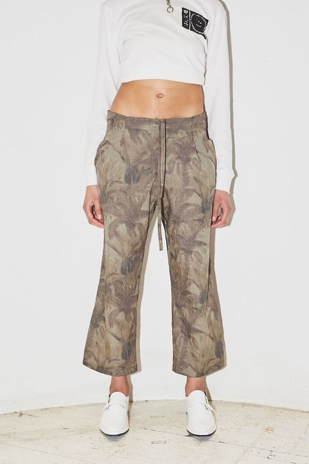 Assembly New York Palm Camo Pleat Pant