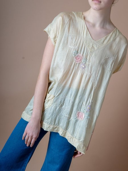 Shop Boswell VINTAGE EMBROIDERED SILK BLOUSE