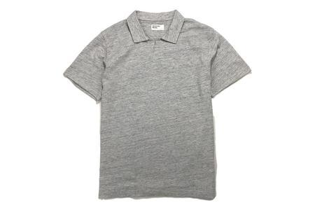Universal Works Resort Shirt in Grey Marl
