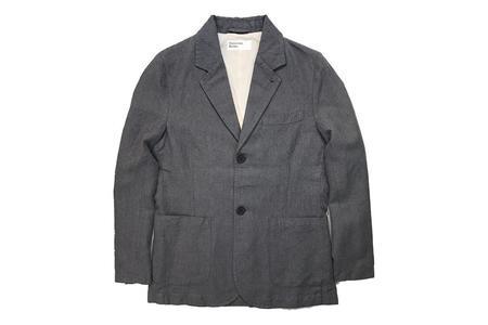 Universal Works Two Button Jacket Grey Panama Lincott