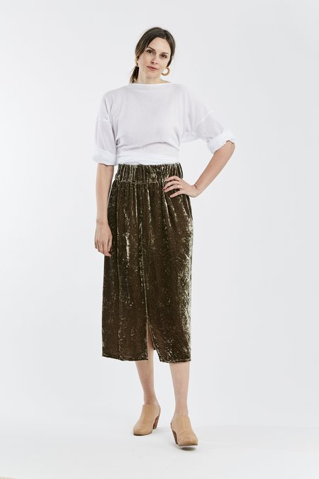 Miranda Bennett Paper Bag Skirt, Velvet in Shetland