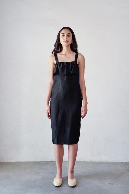 First Rite Ruffle Dress in Black