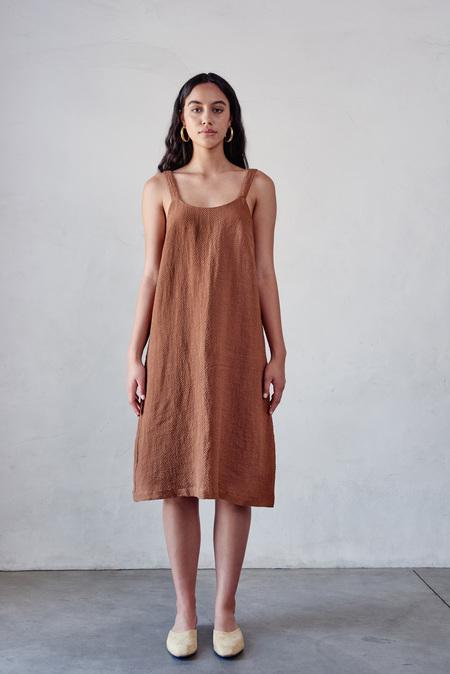 First Rite Dip Dress in Clay