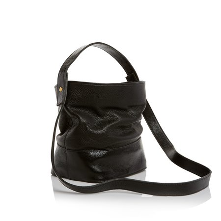 Marie Turnor The Nouveau Bucket Bag - Pebble Black