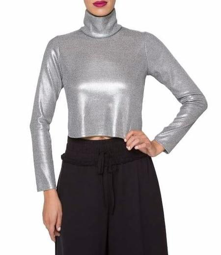34N 118W Barbarella Top - Silver