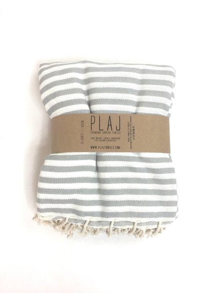 Plaj Towels Grey Denman Blanket