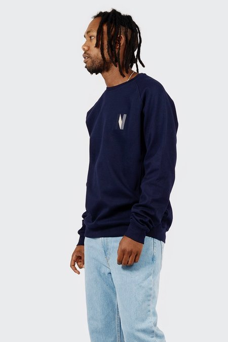 Norse Projects Ketel Crew Multi N Logo Sweater - Dark Navy