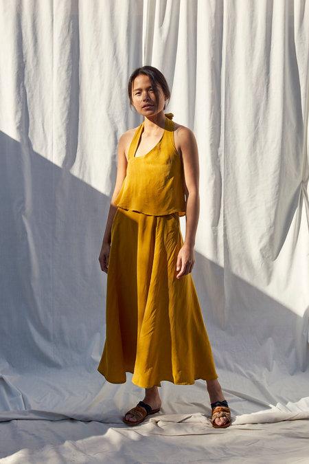 Selva Negra Besito Dress In Mustard