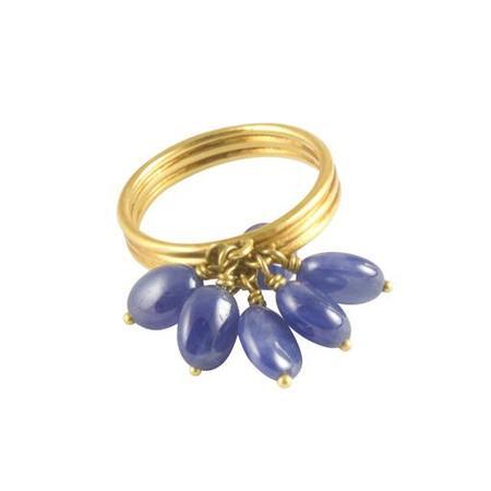 Me&Ro Ring - Sapphire Tassle