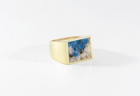 Legier K2 Blue Stone Signet Ring