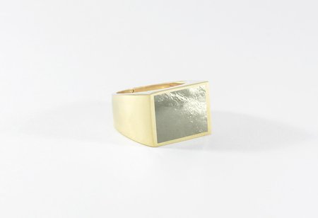 Legier Pyrite Stone Signet Ring