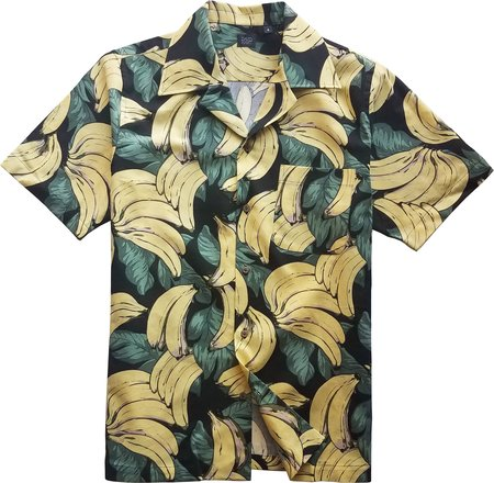 David Hart Black Banana Camp Shirt