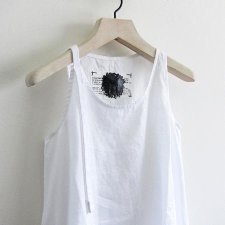 Rundholz ramie tunic - white