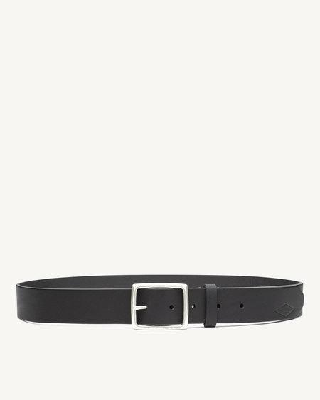 Rag & Bone Rugged Belt Nickel in Black