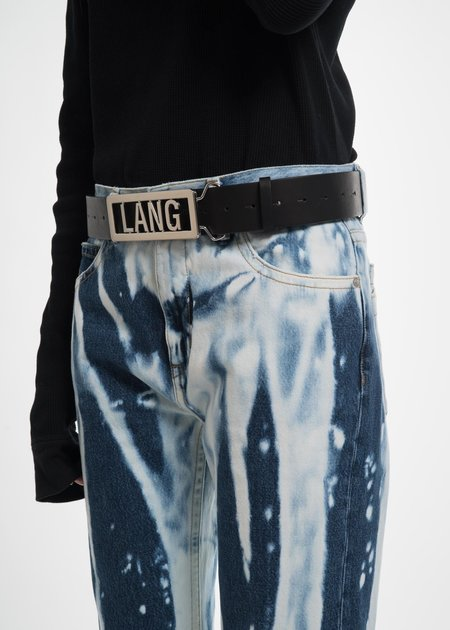 Helmut Lang Black Lang Name Plate Belt