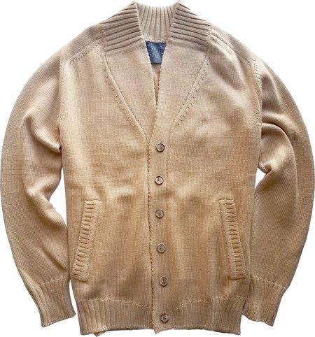 David Hart Camel Button Front Cardigan Jacket