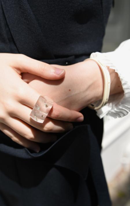 Kathleen Whitaker Faceted Lodolite Ring - Size 6