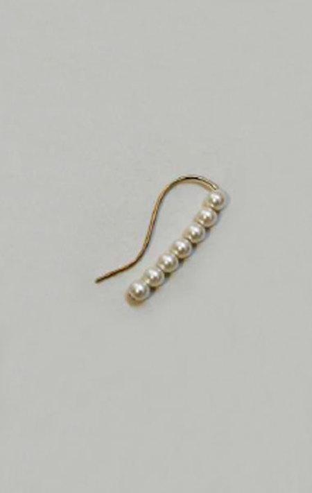 Saskia Diez Barbelle Pearl Ear Stud