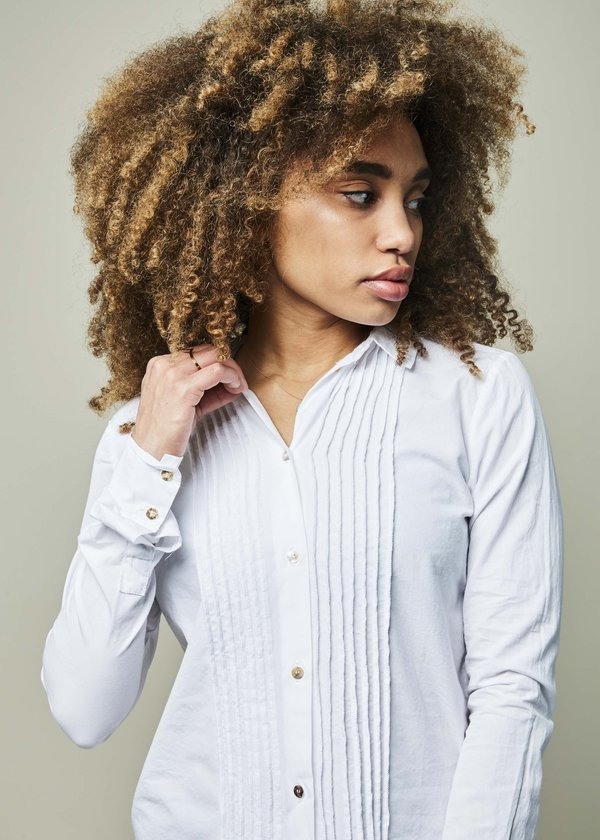 Kristensen du Nord Cotton Tux Shirt - Optic White