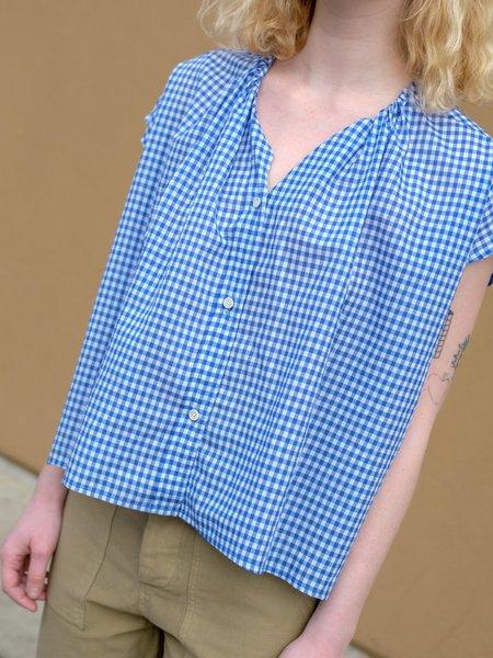 Caron Callahan RILEY SHIRT IN BLUE GINGHAM