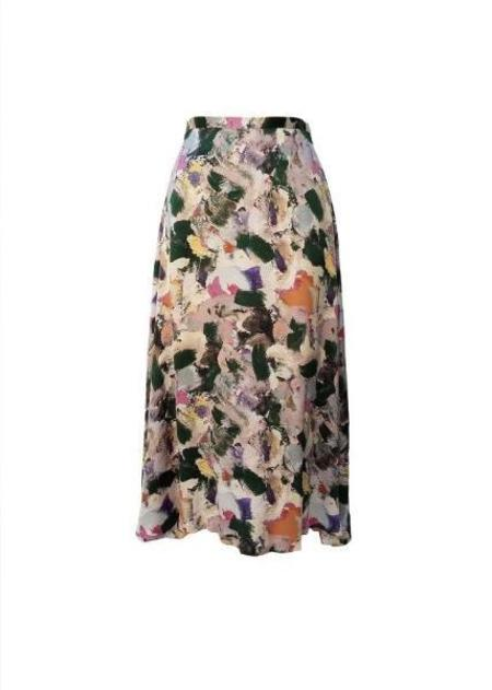 Chistine Alcalay Convertible A-line Skirt in Paint Print