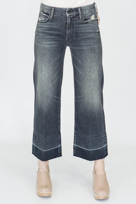 Mother Denim Jeans Roller Crop Un-Done Hem Of Cats and Kings
