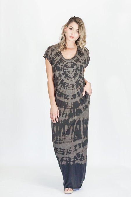 Raquel Allegra Onyx Tie Dye Caftan Dress