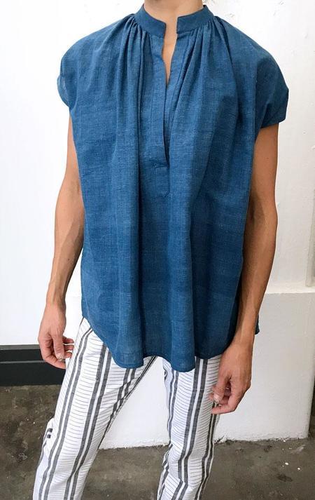 Two New York Khadi Shirt - Indigo