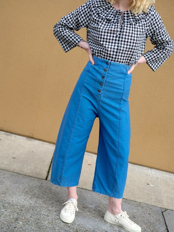 Caron Callahan MORRIS PANT in Faded Indigo Twill