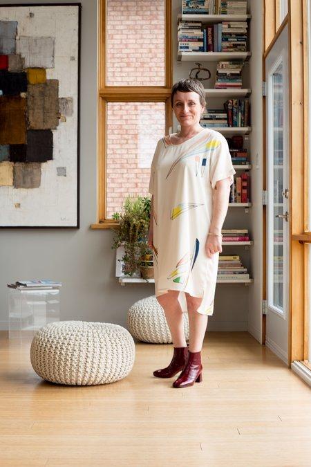 Eve Gravel Seguin Dress - Meadow