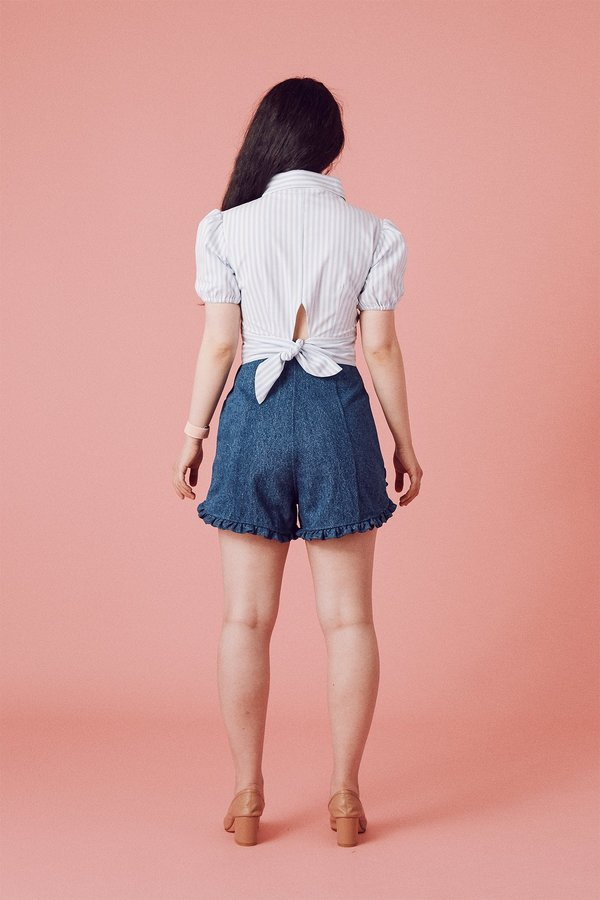 Samantha Pleet Floweret Shorts - Ultramarine