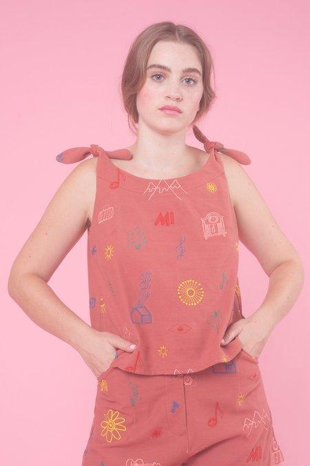 Samantha Pleet Piccolo Tank - Do Re Mi embroidery